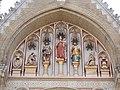 Patrona Hungariae, Ladislaus I, Stephen I, CoAs by Miklós Köllő, St Elisabeth Church. - 2016 Erzsébetváros.jpg
