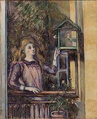 Girl with Birdcage (Jeune fille à la volière)