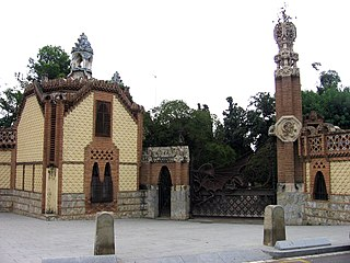 Group of buildings designed by Antoni Gaudí