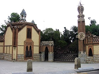 Güell Pavilions - The gatehouse.