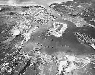 Attack on Pearl Harbor - Pearl Harbor on October 30, 1941, looking southwest