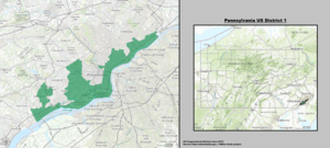 pennsylvania us congressional district 1 since 2013 tif