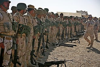 Peshmerga - Image: Peshmerga soldiers prepare to conduct a combined arms live fire exercise near Erbil, Iraq