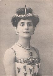 Photographic postcard of Anna Pavlova as the Princess Aspicia in Alexander Gorsky's version of the Petipa/Pugni The Pharaoh's Daughter for the Bolshoi Theatre. Moscow, 1908