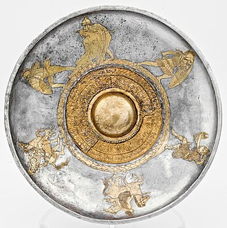 Patera - Silver phiale with Amazonomachy, ca. 430-420 BC, part of the Vassil Bojkov collection, Sofia, Bulgaria