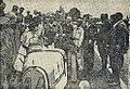 Philippe Étancelin, à l'arrivée du Grand Prix de l'ACF 1930, avec son épouse.jpg