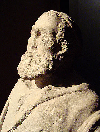 Indo-Greek Kingdom - Greco-Bactrian statue of an old man or philosopher, Ai Khanoum, Bactria, 2nd century BC