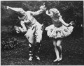 "Photograph of Betty Bloomer and Mary Snapp in ""Scenes from Scaramouche"" at the Annual May Dance, Calla Travis School... - NARA - 187014.tif"