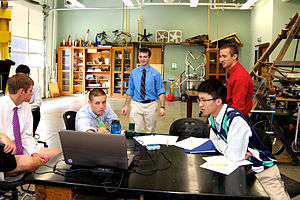 Christ School (North Carolina) - Students at work in the Physics Lab at Christ School
