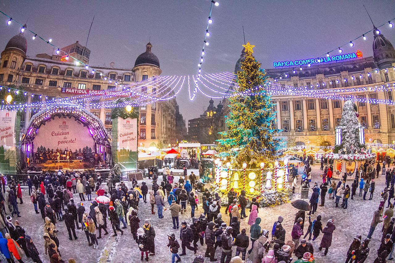 Pasar Natal di Bukares