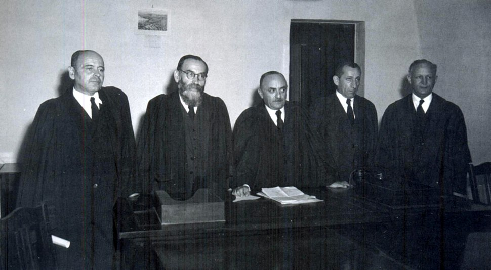 Picture of the first five Israeli Supreme Court judges