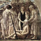 The Death of Adam, by Piero della Francesca (1452-1466).