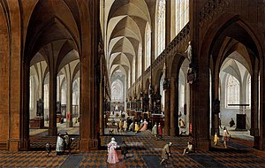 Pieter Neefs the Younger - The nave of Antwerp Cathedral