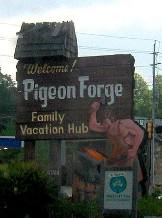 Pigeon Forge, Tennessee - Welcome sign