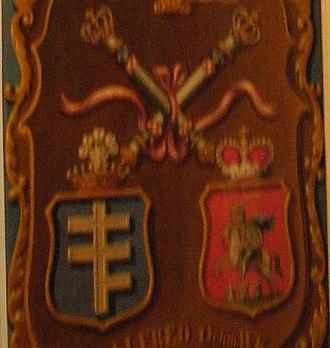 Czartoryski coat of arms - Image: Pilawa (Potocki count) and Czartoryski (prince) Co A in Lancut palace