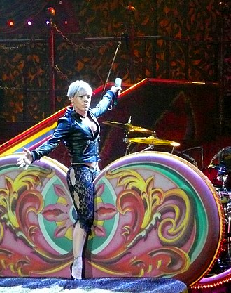 Funhouse Tour - Pink during her Funhouse Tour in Düsseldorf on 28 November 2009.