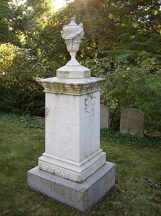 Benjamin Pitman (Hawaii) - The Pitman family marker at Mount Auburn Cemetery
