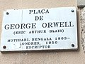 Placa de George Orwell in Barcelona 3bis.jpg