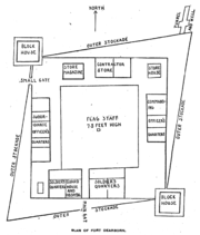 Plan of first Fort Dearborn