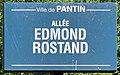 Plaque Allée Edmond Rostand - Pantin (FR93) - 2021-04-27 - 1.jpg