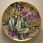 Plaque by Henrietta Dana Leonard, fired at Frderick Dallas Hamilton Road Pottery, 1882, unidentified porcelain blank - Cincinnati Art Museum - DSC03083.JPG
