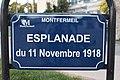 Plaque esplanade 11 Novembre 1918 Montfermeil 1.jpg