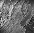 Plateau Glacier, terminus of tidewater glacier, glacial flour and hanging glacier, August 24, 1963 (GLACIERS 5770).jpg