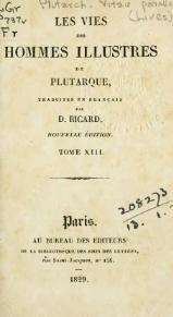 Plutarque - Vies, traduction Ricard, 1829, tome 13.djvu