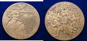 Battle of Lenino - Poland Medallion 1983: Commemoration of the World War II Battle of Lenino 1943