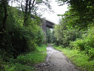 Cornwall Minerals Railway - The 1874 CMR line crossing the 1867 Rock Mill Quarry line at Pontsmill