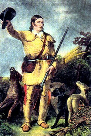 Folk hero - Davy Crockett, hero of the Alamo