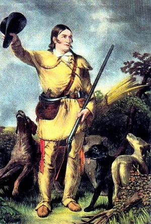 Folk hero - Davy Crockett, hero of the Alamo