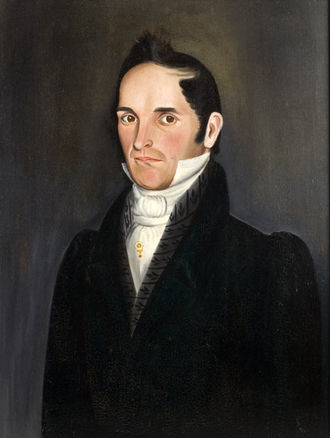 Sheldon Peck - Portrait of a Gentleman. Note the rabbit tracks hidden in the vest.