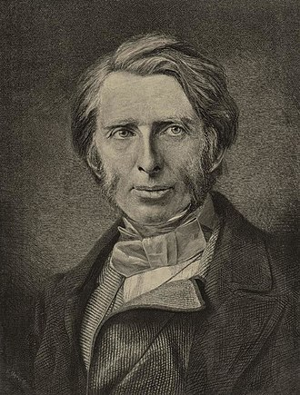Camberwell - Engraving of John Ruskin by Henry Sigismund Uhlrich. Ruskin lived in Camberwell for many years