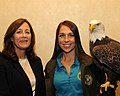 Posing for picture with Bald Eagle. (10596059293).jpg
