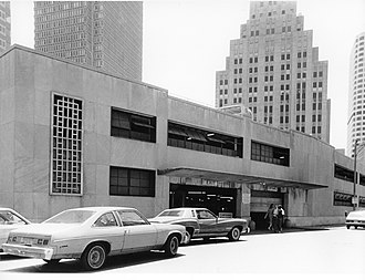 Post Office Square, Boston - Garage in Post Office Square that was demolished to make way for the creation of Norman B. Leventhal Park.