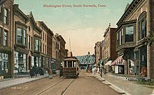 Washington Street, looking west, about 1910