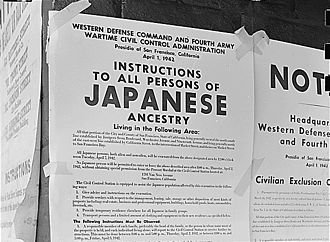 Western Defense Command - Photograph of the exclusion order issued by WDC and the Fourth U.S. Army on 1 April 1942 concerning all persons, including American citizens, of Japanese ancestry.