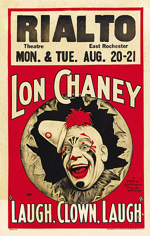 Laugh, Clown, Laugh - Theatrical release poster