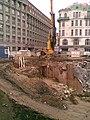 Praha, Nové Město, Národní třída, výstavba Copa Center (T) III.jpg