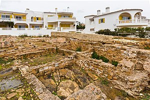 Praia da Luz - The archaeological site of Roman salting and fish processing centre
