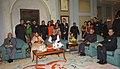 Pratibha Devisingh Patil, the Vice President, Mohammad Hamid Ansari, the Prime Minister, Dr. Manmohan Singh at the Delhi Police Raising Day 'At Home' function, organised by Delhi Police, in New Delhi on February 18, 2008.jpg