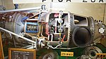 Pratt & Whitney Canada PT6A-20A turboprop engine(cutaway model) at Archive room of JMSDF Tokushima Air Base September 30, 2017 02.jpg