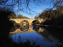 Prebends Bridge, Durham in Winter, December 2012.jpg