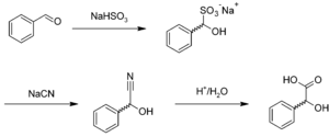 Mandelic acid - Image: Preparation of mandelic acid