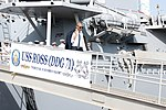 President Barack Obama departs USS Ross (DDG 71) after a tour aboard the ship (28191349286).jpg
