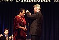 President Bill Clinton presents the National Medal of Arts and Humanities Award to Maya Angelou.jpg