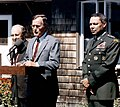 President George H. W. Bush holds a press conference at Walker's Point, Kennebunkport, Maine.jpg
