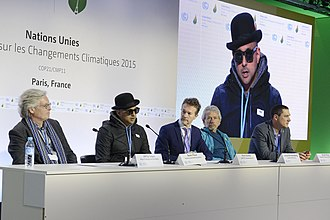Sean Paul - Sean Paul (second from left) speaking at the 2015 United Nations Climate Change Conference.