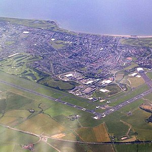 Glasgow Prestwick Airport - Glasgow Prestwick Airport from the air